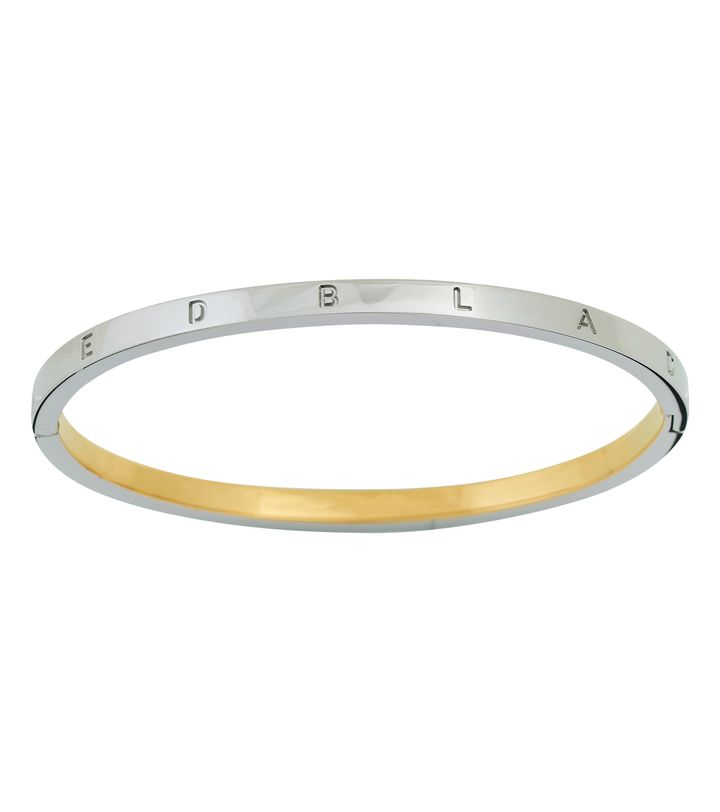 Signature Bangle Thin Steel/Gold