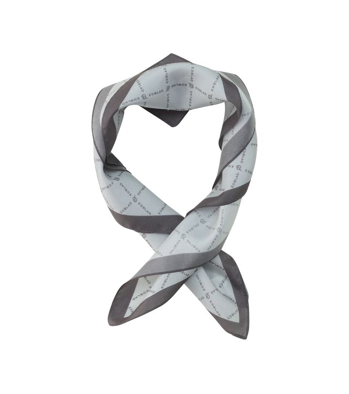 Signature Silk Scarf Light Grey