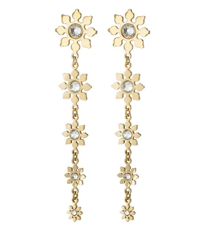 Snowflake Earrings Gold