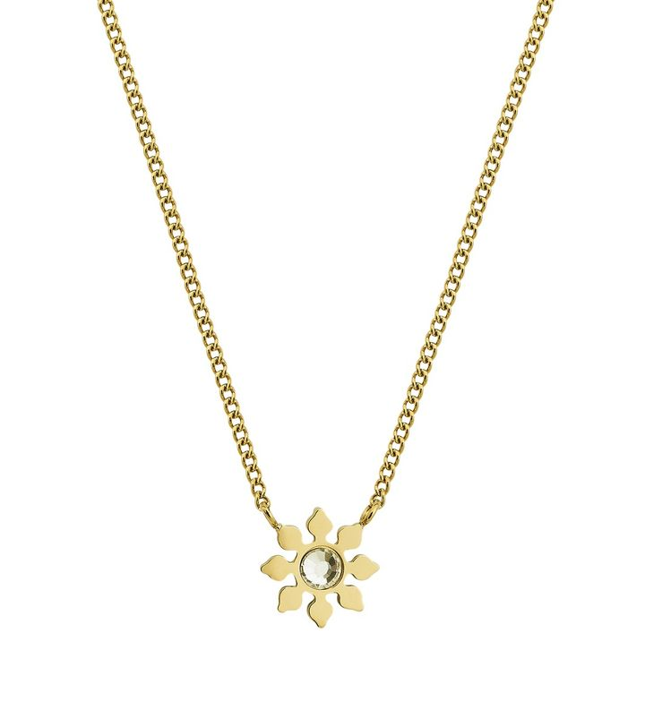 Snowflake Necklace Gold