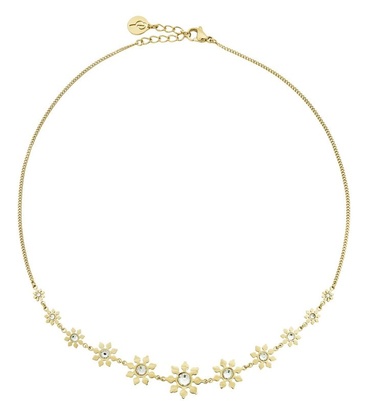 Snowflake Necklace Maxi Gold