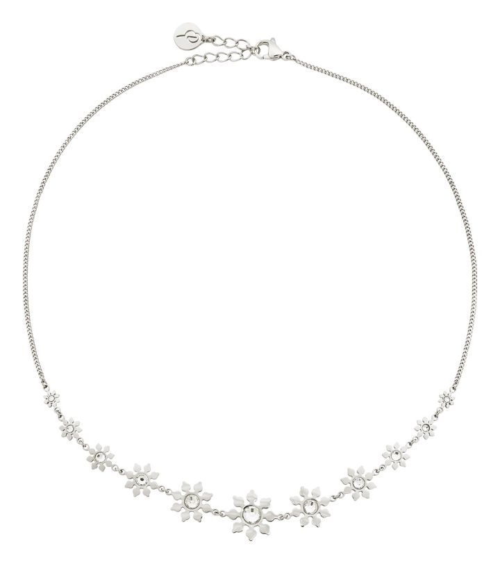 Snowflake Necklace Maxi Steel