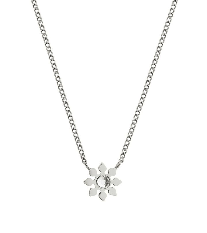 Snowflake Necklace Steel