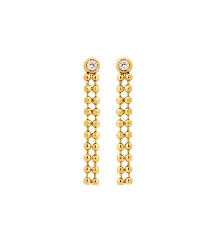 Sonic Earrings CZ Gold