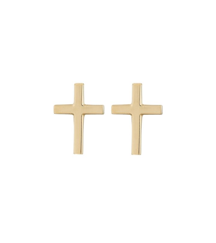 Spirit Cross Studs Gold
