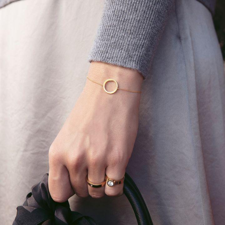 Circle Bracelet Small Matt Gold