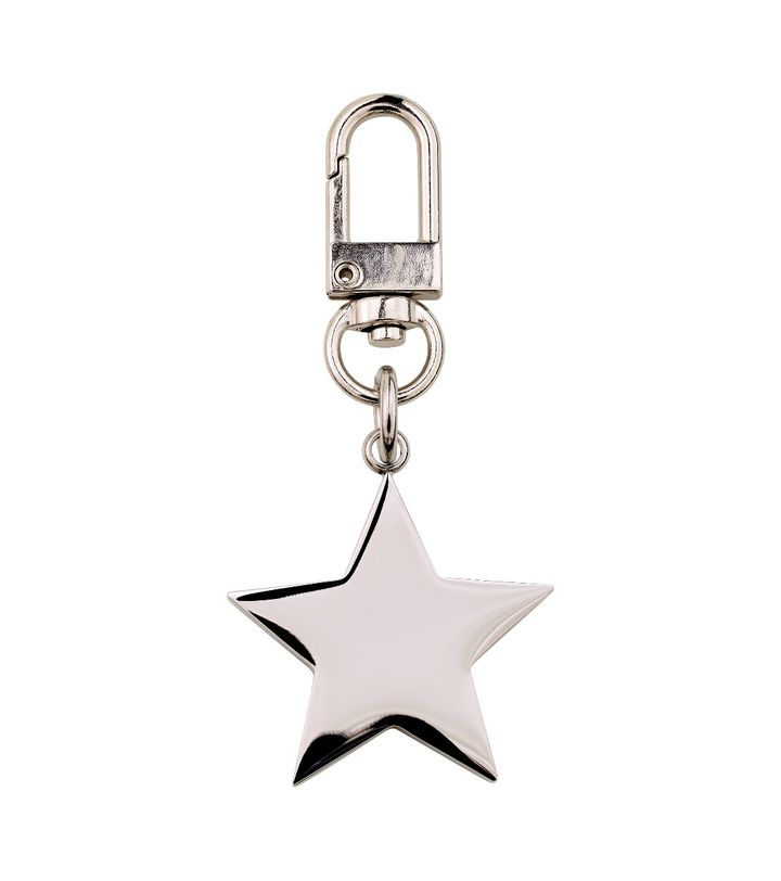 Star Bag Charm Steel