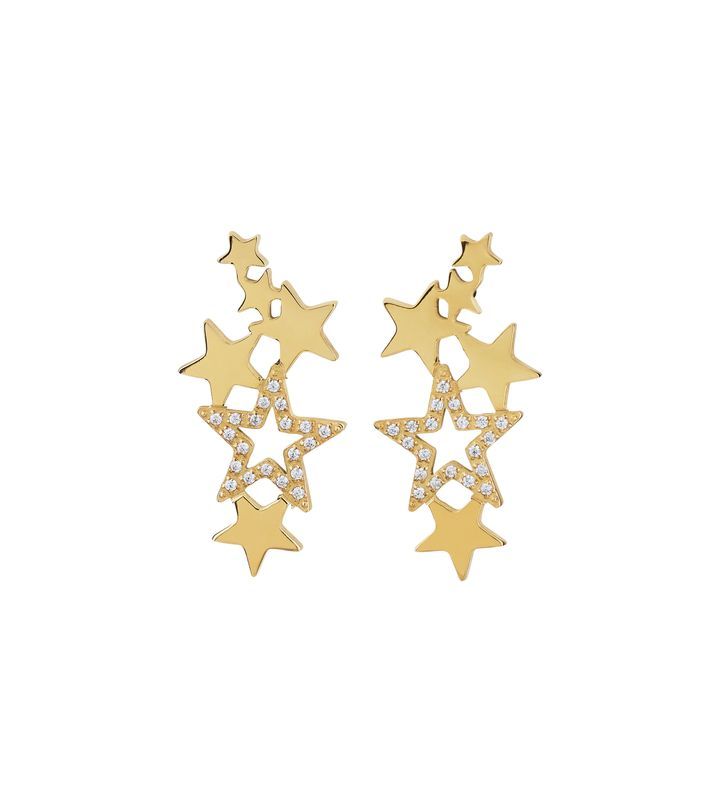 Starfield Earrings Gold