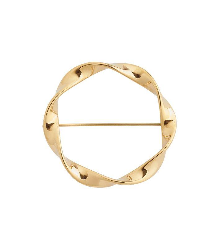 Swirl Brooch Gold