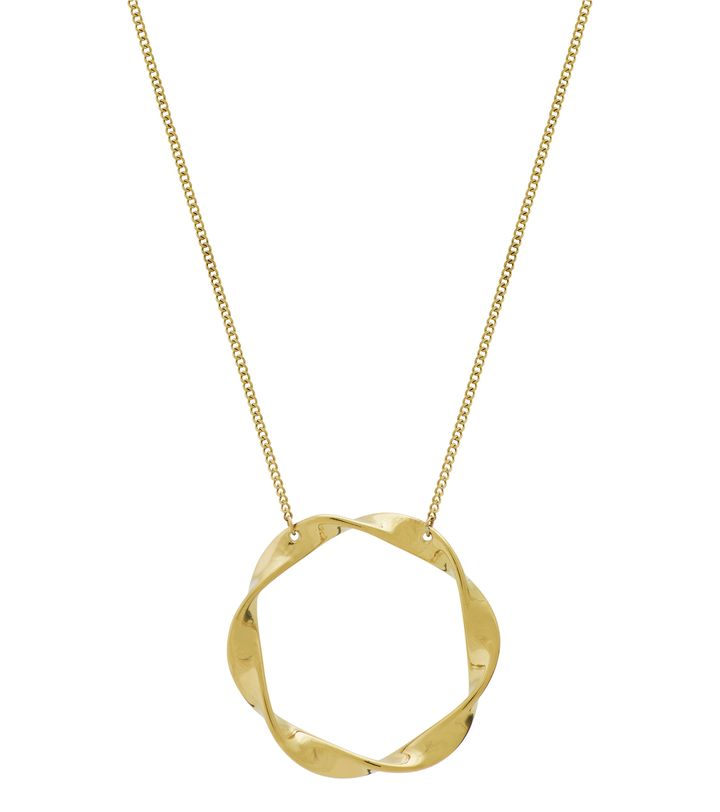 Swirl Necklace Large Gold