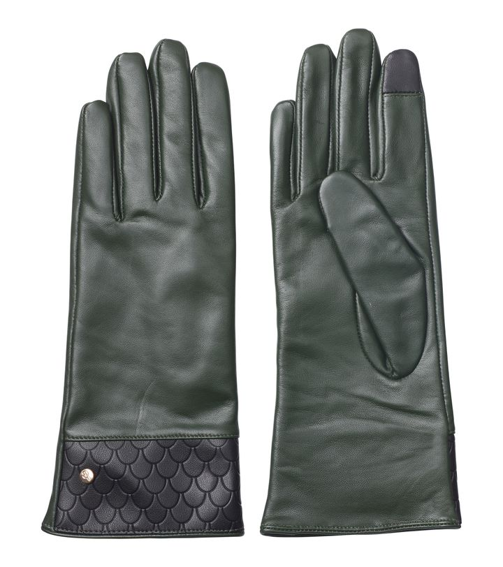 Tiles Leather Glove Forest