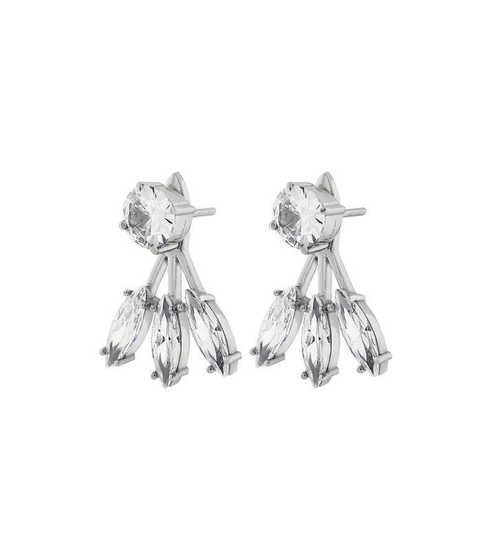 Timeless Earrings Front/Back Steel