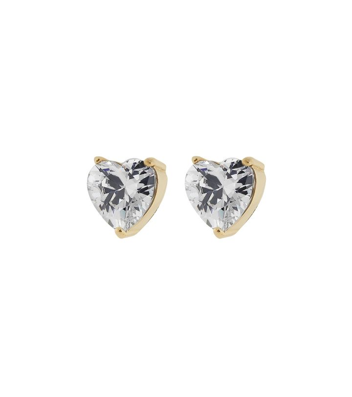 Timeless Heart Studs Gold