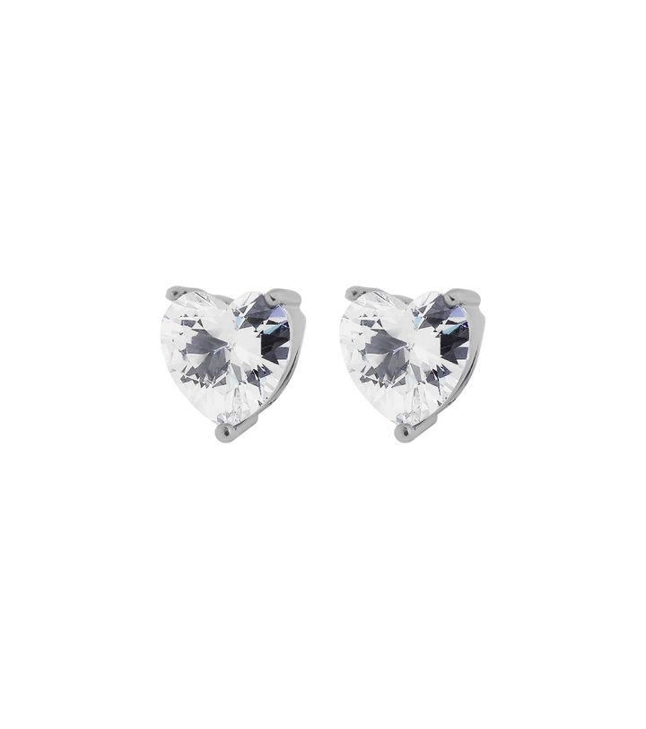Timeless Heart Studs Steel
