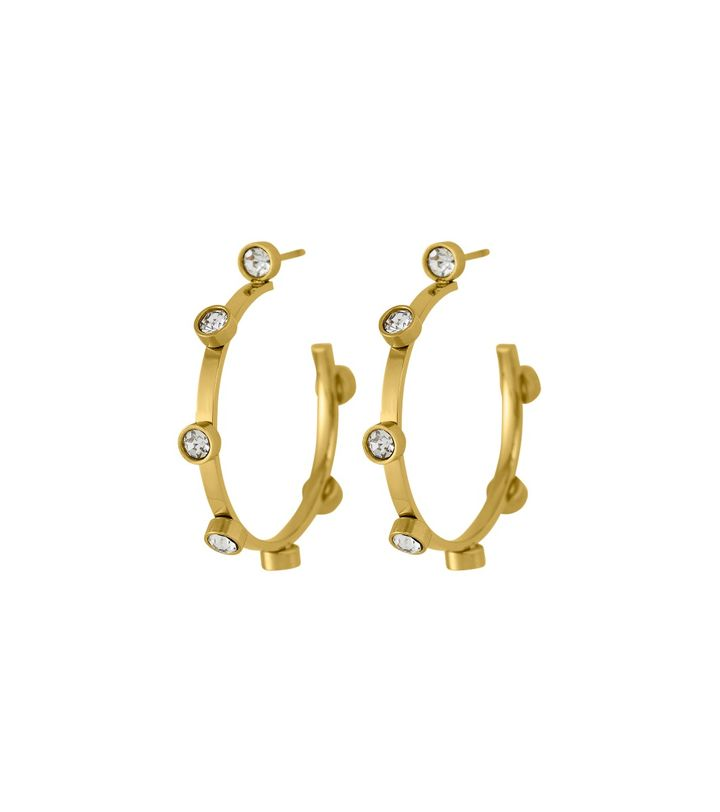 Tina Earrings Small Gold