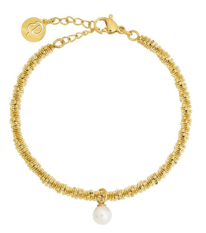 Tinsel Bracelet Pearl Gold