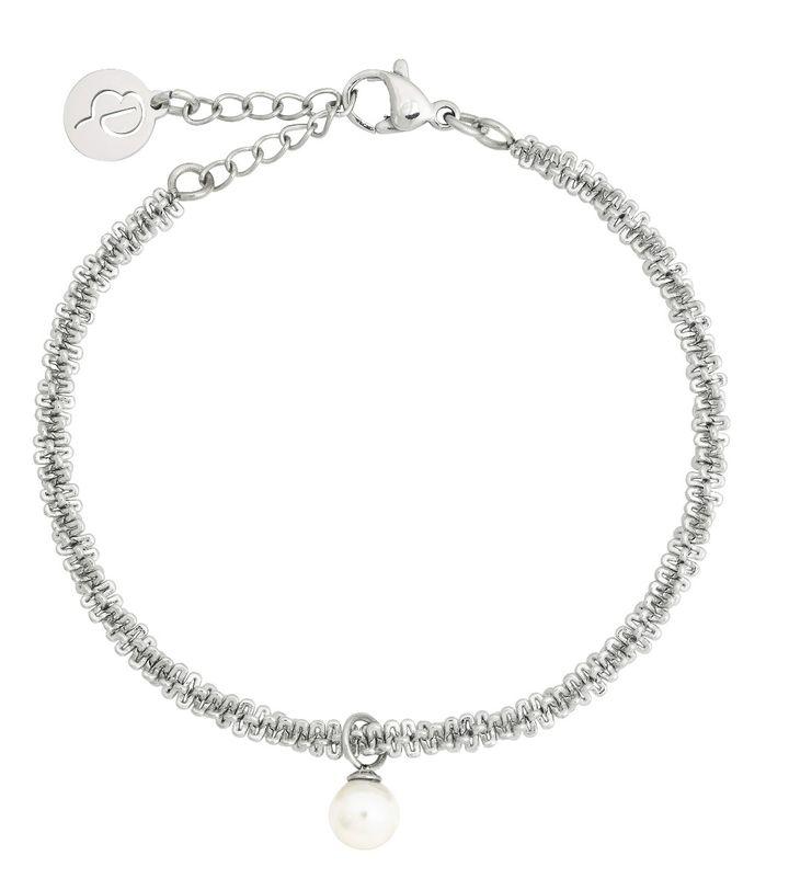 Tinsel Bracelet Pearl Steel