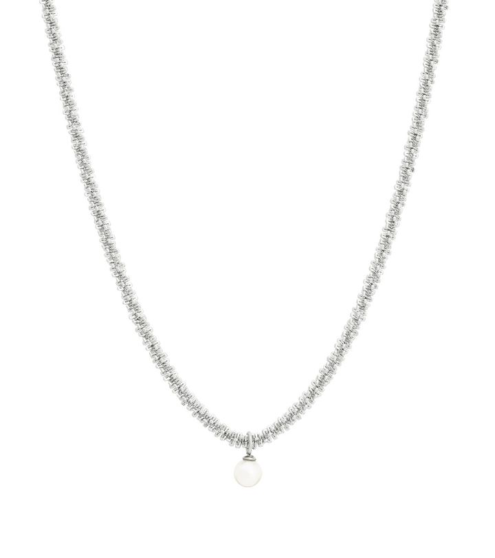 Tinsel Necklace Pearl Steel