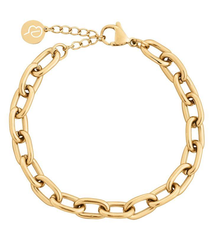 Trellis Chain Bracelet Gold