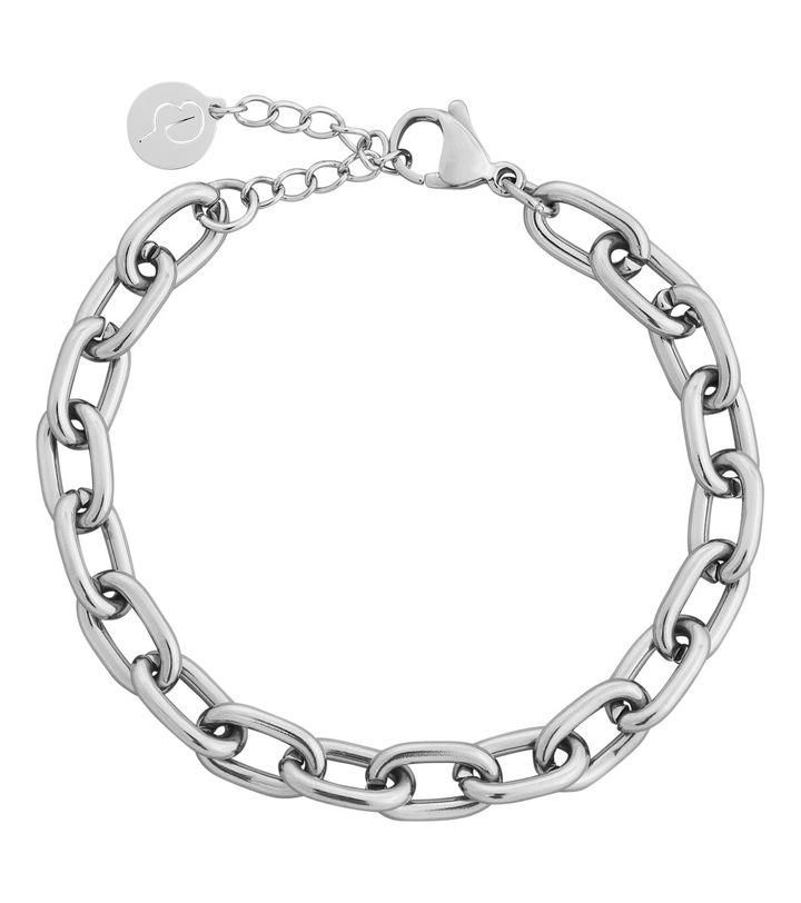 Trellis Chain Bracelet Steel