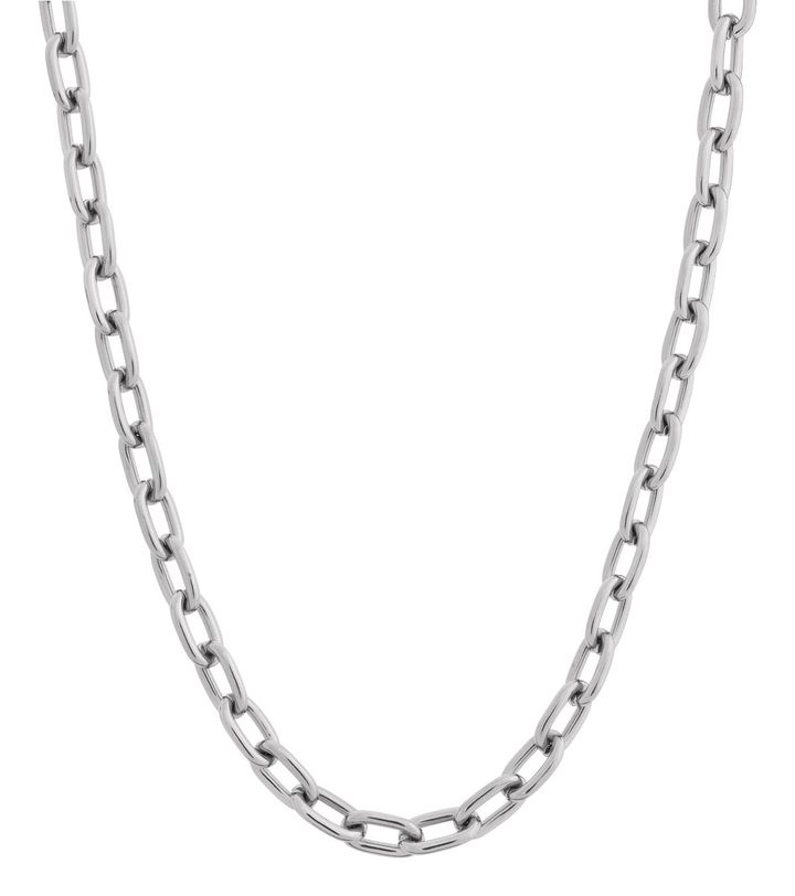 Trellis Chain Necklace Steel
