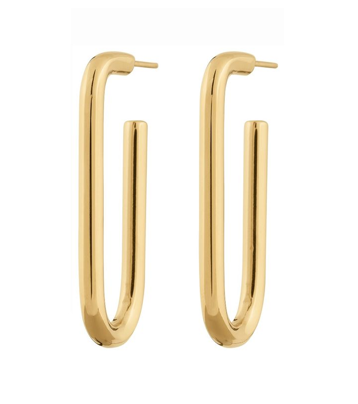 Trellis Earrings L Gold