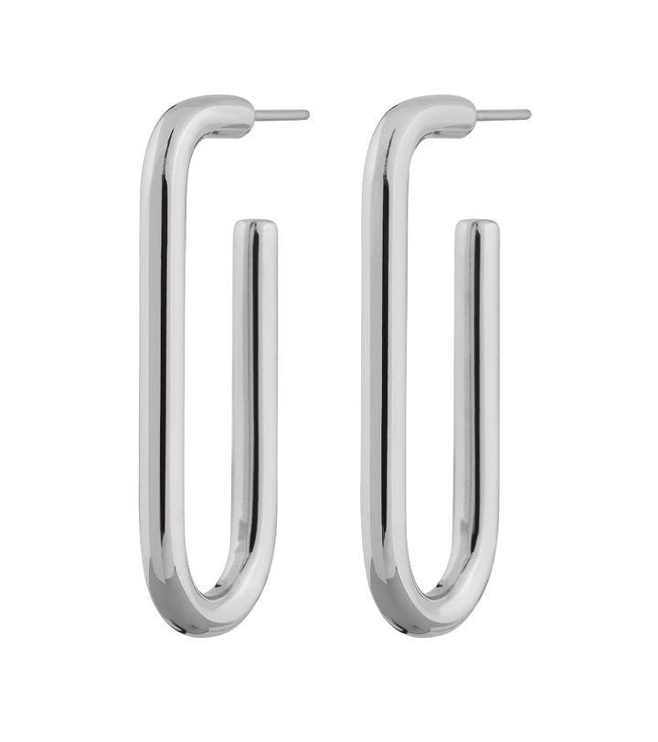 Trellis Earrings L Steel