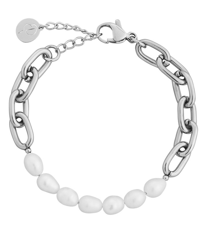 Trellis Pearl Bracelet Steel