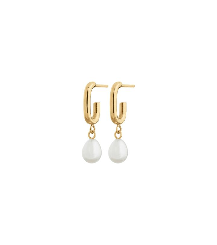 Trellis Pearl Earrings S Gold
