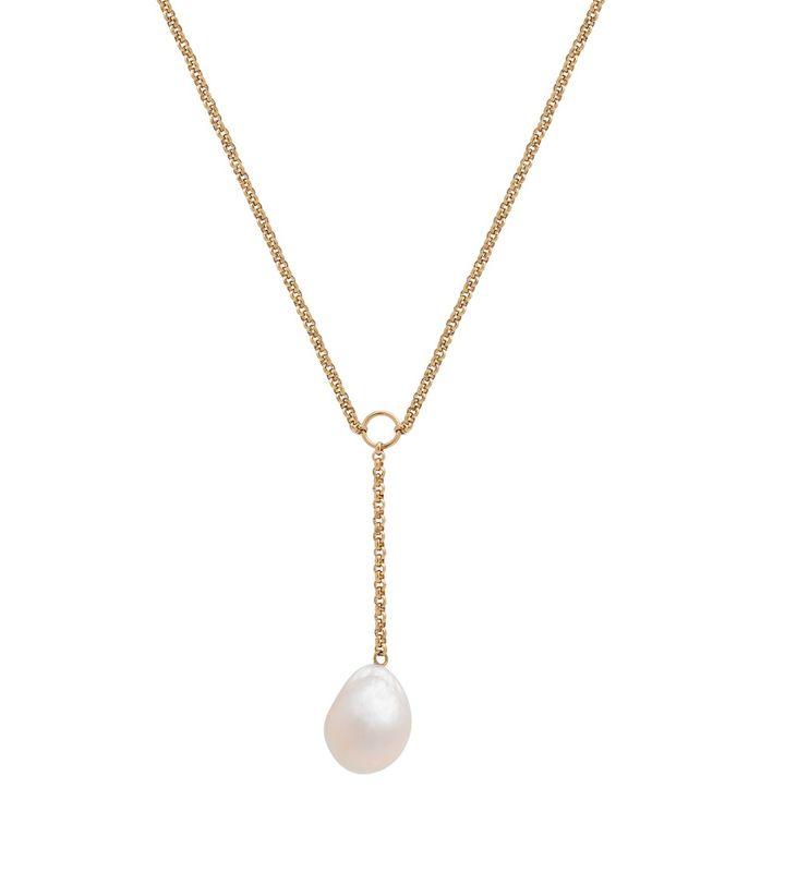 Trellis Y Necklace Gold