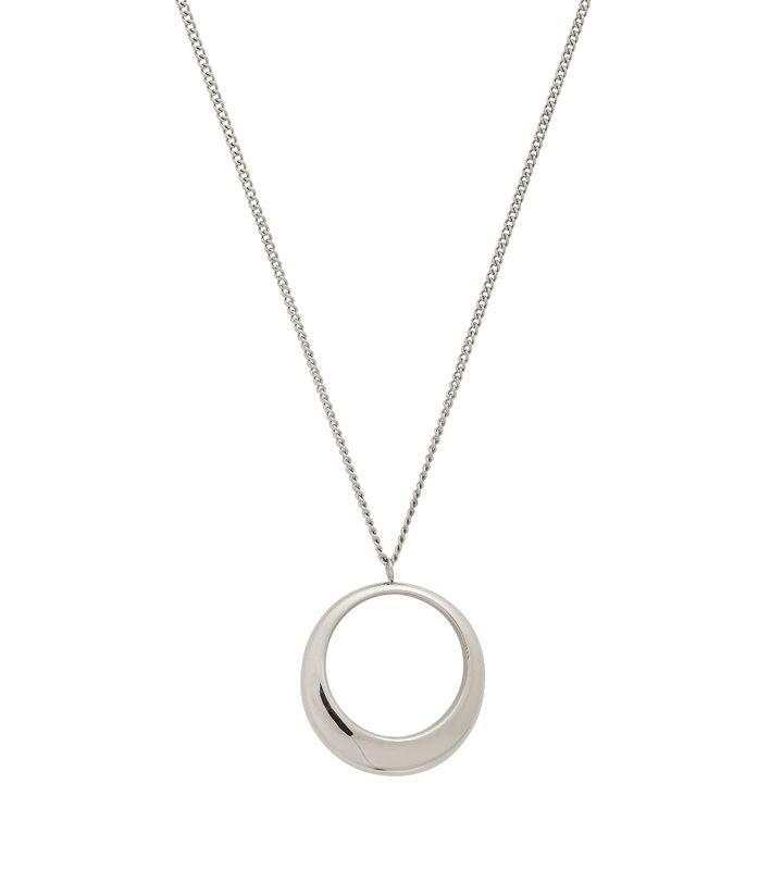 Trois Necklace L Steel