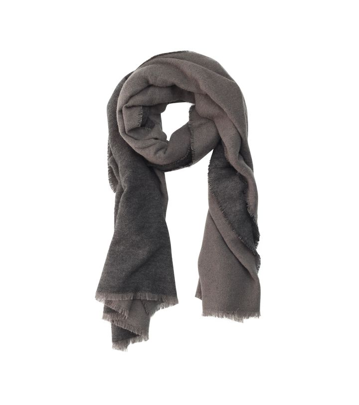 Two Tone Scarf Black