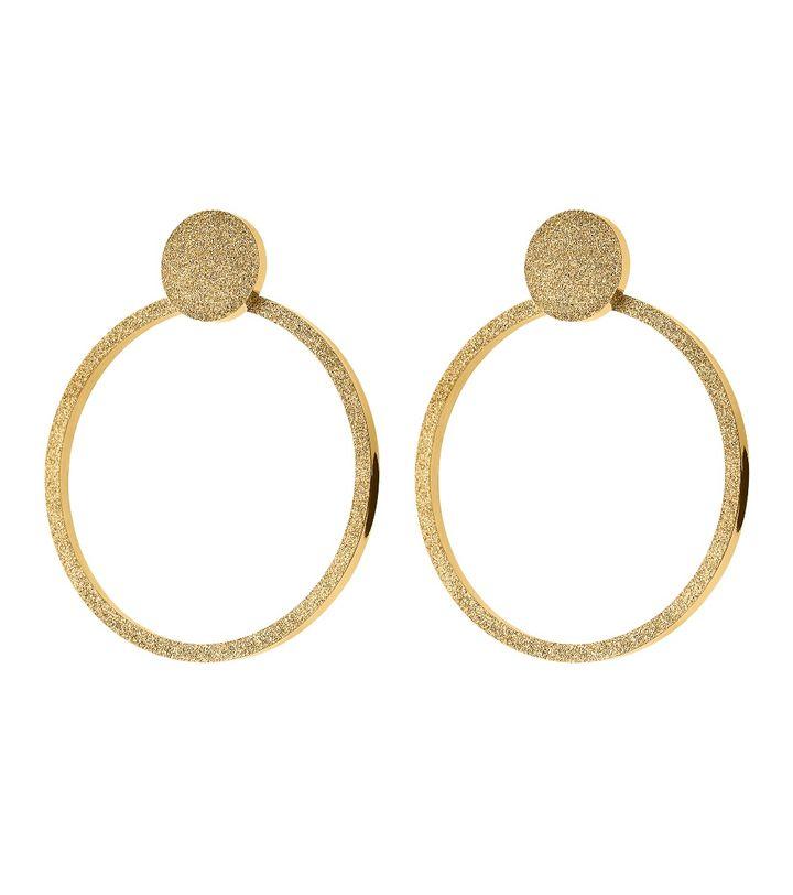 Valerie Earrings Large Sparkle Gold
