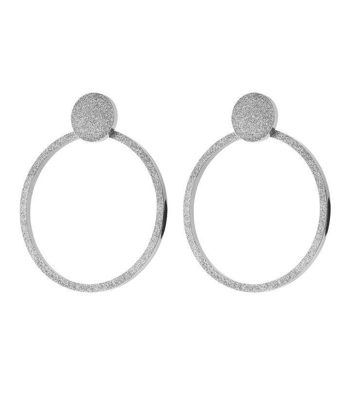 Valerie Earrings Large Sparkle Steel