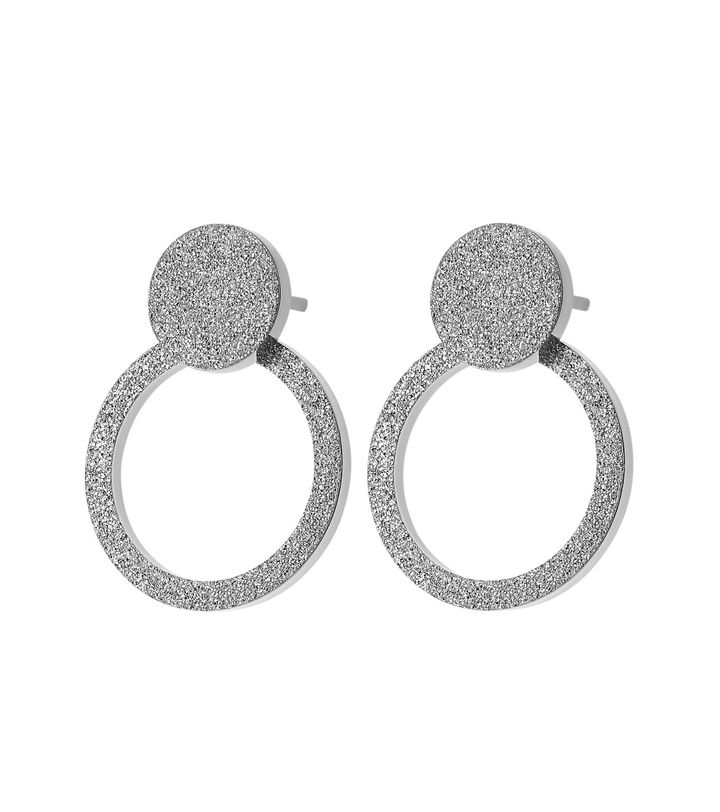 Valerie Earrings Sparkle Steel