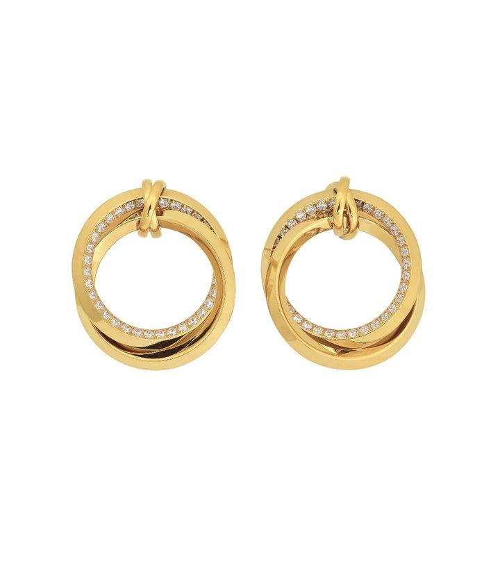 Zinnia Duo Earrings Gold