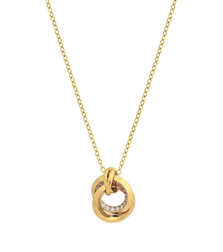 Zinnia Duo Necklace S Gold
