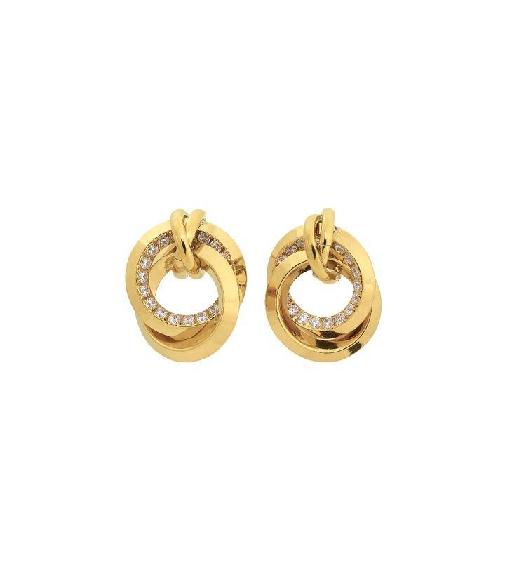 Zinnia Duo Studs Gold