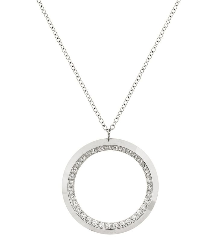 Zinnia Necklace L Steel