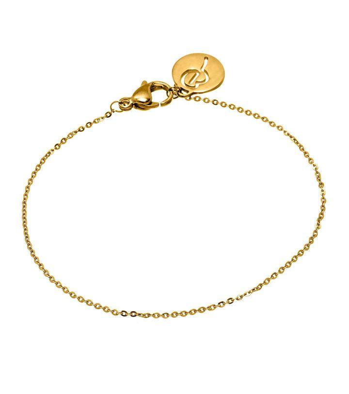 Charmentity Chain Bracelet Gold