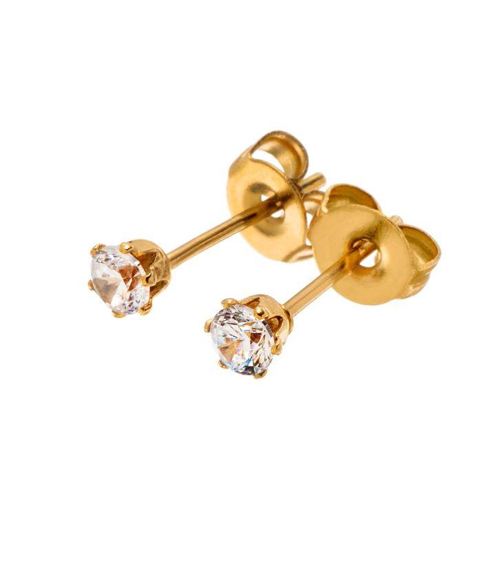 Crown Studs Mini Gold