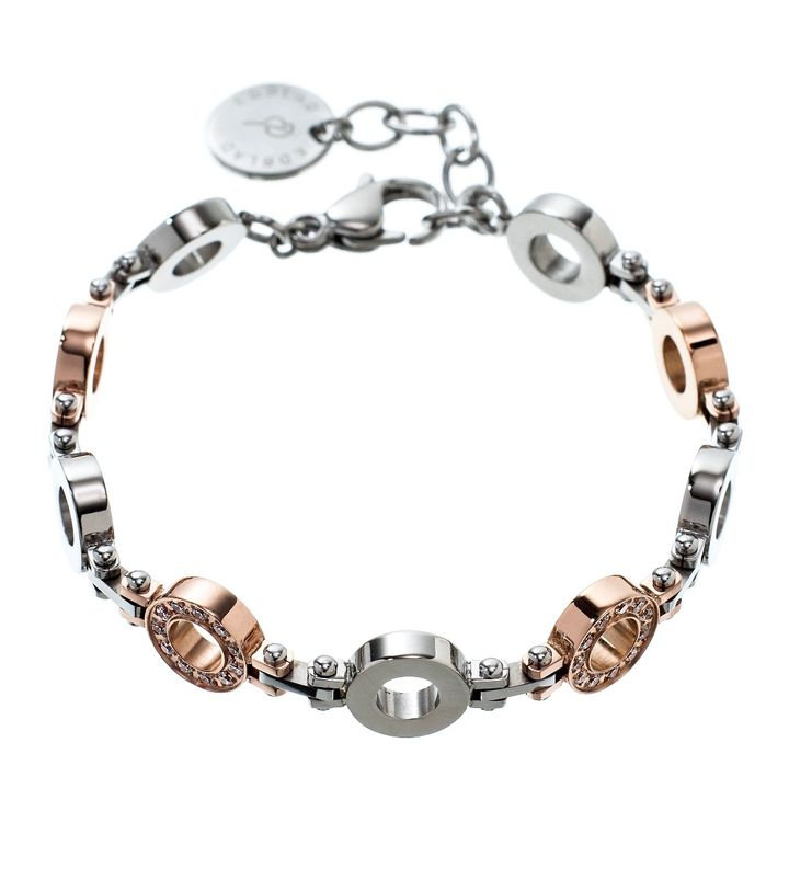 Eternity bracelet multi steel/rose gold