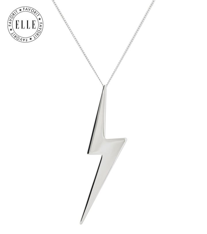 Lightning Necklace Long Steel