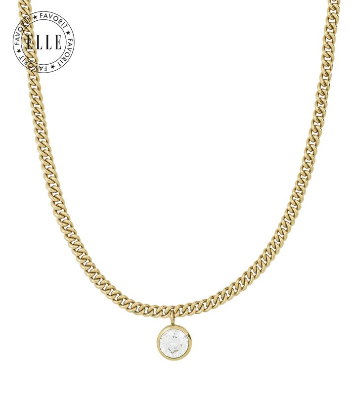 Lourdes cz Necklace Gold