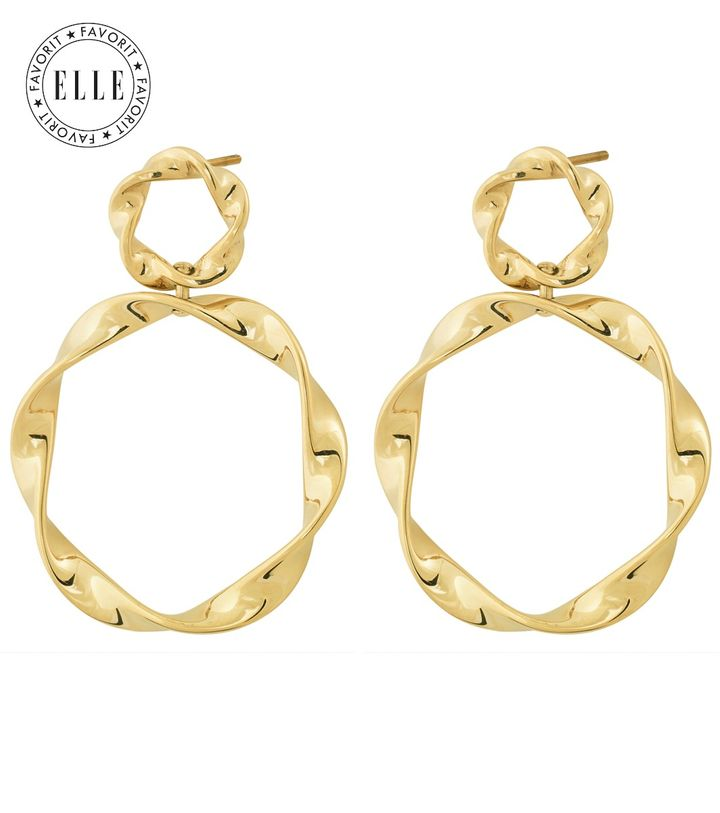 Swirl Earrings Gold